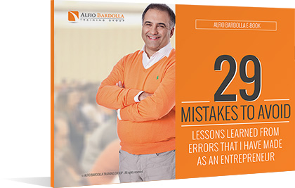 Alfio Bardolla E-Book - 29 mistake to avoid